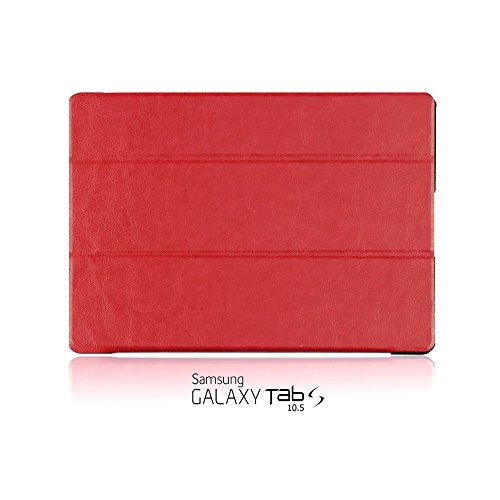 9785891089112: OBiDi - Ultra-Slim Folio Cover Case avec Auto / Veille Fonction for Samsung GALAXY Tab S 10.5 Tablet(T800) - Rouge