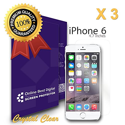 9785891091498: OBiDi - Apple iPhone 6 / 6S (4.7inch) Screen Protector, Transparent / HD Clear - OBD Retail Packaging (Pack of 3)