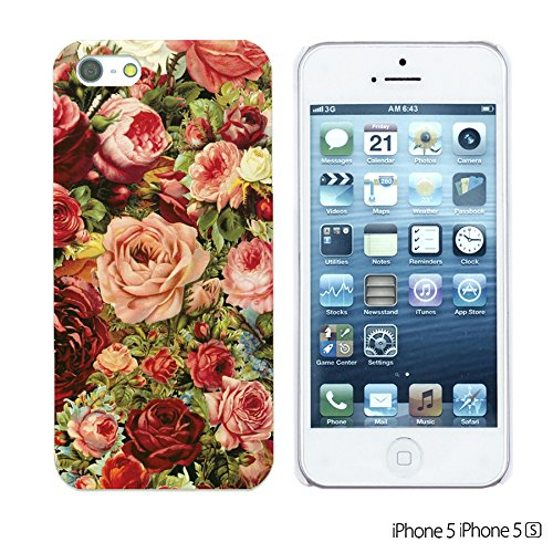 9785891094208: OBiDi - Fabric Pattern Hard Back Case / Housse pour Apple iPhone SE / Apple iPhone 5S / 5 - Vintage Roses Painting
