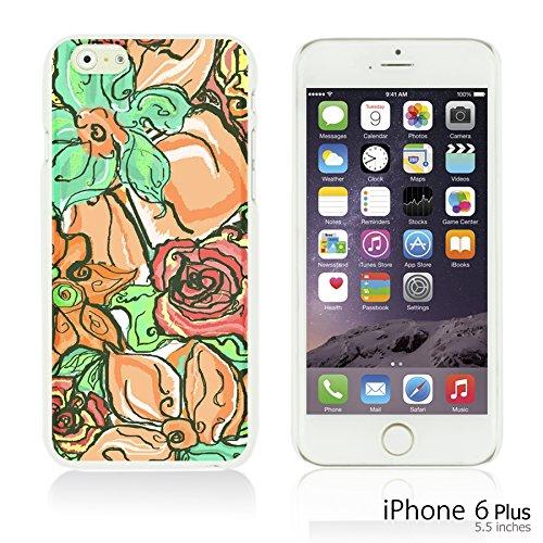 9785891105188: OBiDi - Flower Pattern Hardback Case / Housse pour Apple iPhone 6 Plus / 6S Plus (5.5)Smartphone - Colorful Floral Oil Painting