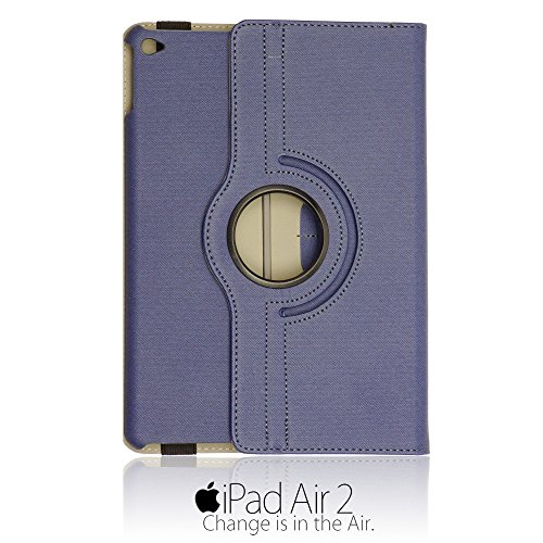 9785891121935: OBiDi - Denim Texture 360 Degree Rotating Case Stand avec Auto / Veille Fonction for Apple iPad Air 2 - Bleu