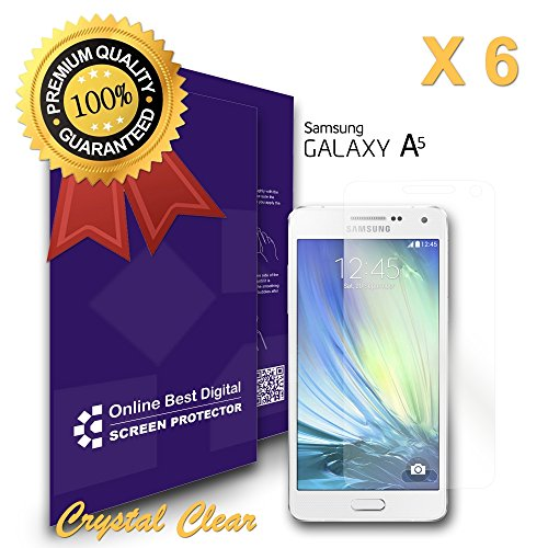 9785891127135: OBiDi - Films de protection d'écran pour Samsung Galaxy A5, Crystal Clear / Transparent - OBD Emballage au Détail (Pack de 6)