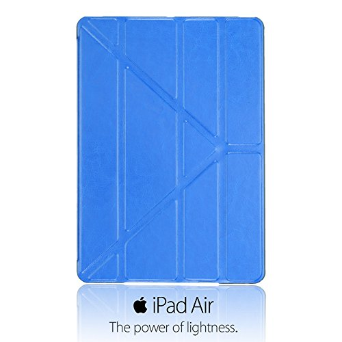 9785891127364: OBiDi - Slim-Fit Folio Cover Case Stand with Auto Sleep / Wake Function for Apple iPad Air - Blue