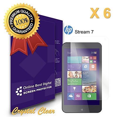 9785891131057: OBiDi - Films de protection d'�cran pour HP Stream 7 inch (5701), Crystal Clear / Transparent - OBD Emballage au D�tail (Pack de 6)
