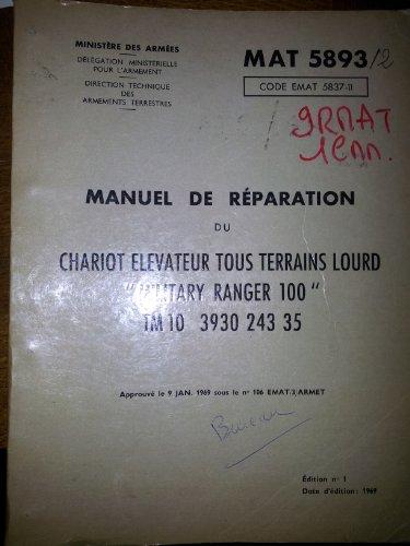 9785893258370: MANUEL DE REPARATION DU CHARIOT ELEVATEUR TOUS TERRAINS LOURD