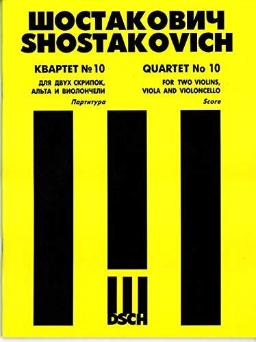 9785900539881: String Quartet No.10. Score.