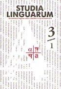 Studia Linguarum 3/1 and 3/2: De omnibus Memoriae A.A. Korolev dicata