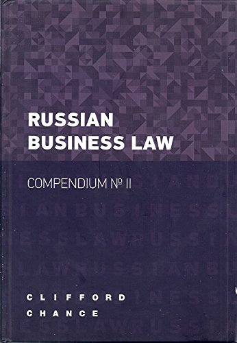 9785999801685: Russian Business Law Compendium No. II