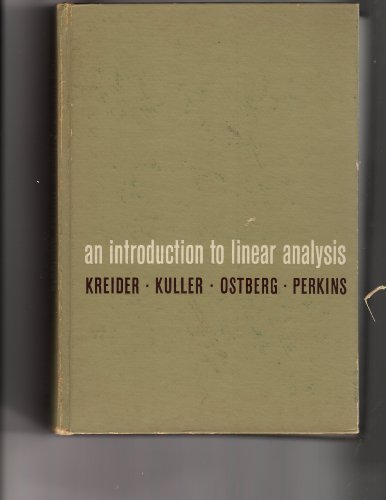 9786000627744: An introduction to linear analysis (Addison-Wesley series in mathematics)