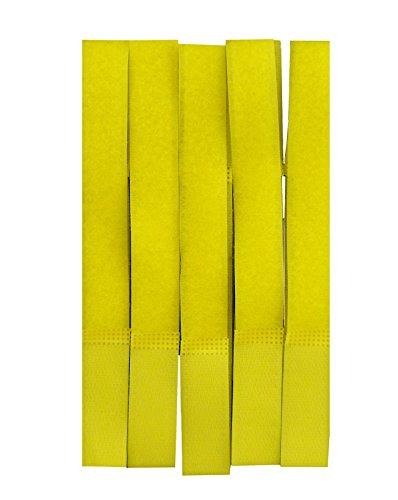 9786040489388: Silc Attache-câbles Velcro colorés 18 x 2cm - jaune