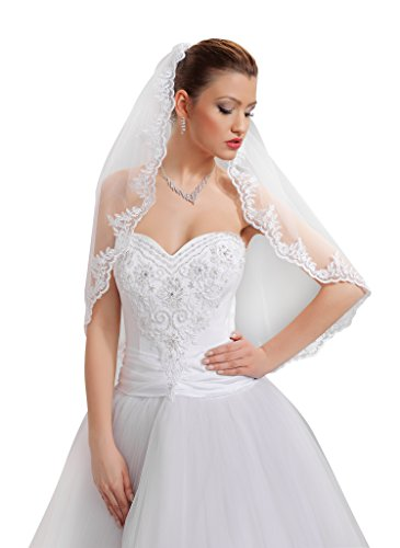 9786040594983: 1-tier wedding bridal elbow veil with comb 28