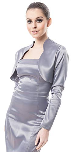 9786040597595: Bol�ro femme soir�e nouveau satin� pour le cocktail veste cocktail Manche pleine longueur bolero