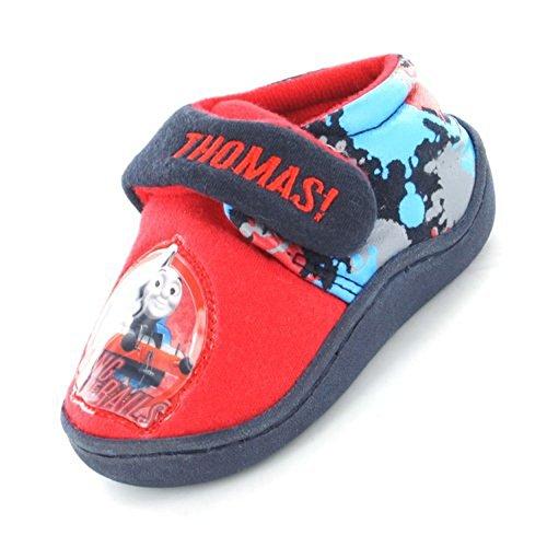 9786040835369: Thomas & Friends - Zapatillas de estar por casa para ni�o multicolor azul/rojo 10 UK Infant