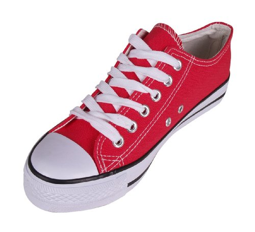 9786041209268: cloggis low top, Baskets mode pour femme - Rouge - rouge, 42.5