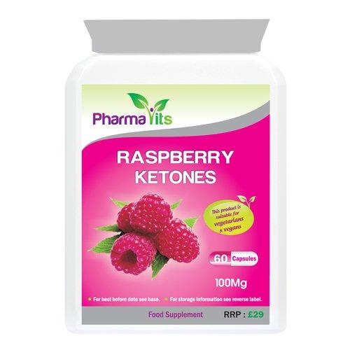 9786041257917: Pharmavits 100mg Raspberry Ketones Vitamin Supplements - Pack of 60 Capsules