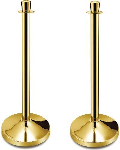 9786041298118: 2 pcs Abgrenzungsständer Personenleitsystem for Cords Titanium Gold