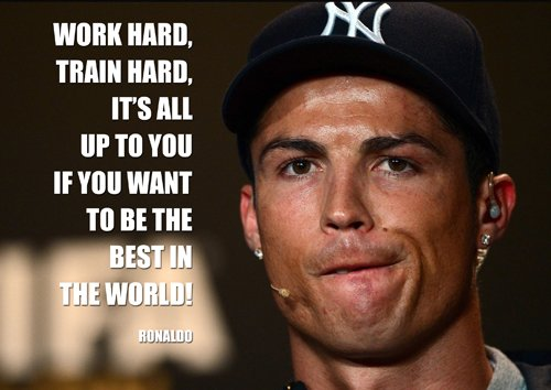 9786041466258: Cristiano Ronaldo 6 - Motivation - world player of the year - footbal - Real Madrid - A3 poster