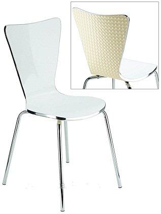 9786041497337: Demii Acrylique Chaise de style bistro - Blanc