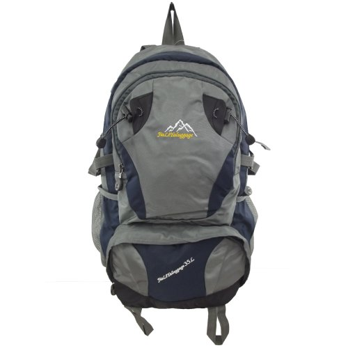 9786041698246: UKFS Outdoor 35 litre Hiking Backpack / Sports Travel Camping Climbing Bag / Rucksack (Navy Blue)