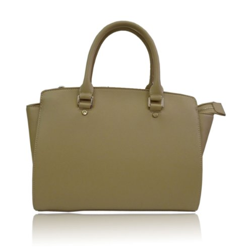 9786041699755: UKFS Celine Borse Tote / progettista delle ragazze delle signore del Faux della borsa sacchetto di cuoio / spalla (Medio Beige)