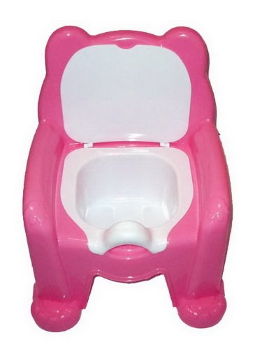 9786041754461: Dunya Plastik Deluxe Pink Teddy Bear Kids Potty Training Seat Chair With Removable Potty Lid
