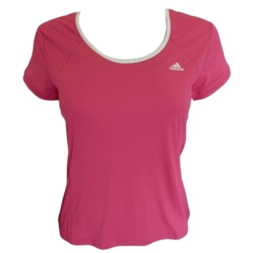 9786041812994: Adidas Dri Fit Ladies Fitness Running T Shirt Womens Gym Exercise Sports Top - White, Pink, Purple