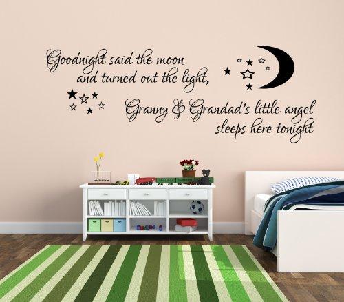 9786041955912: Goodnight said the moon bedcamera la pared del vinilo