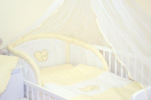 9786042151863: Parure de lit bébé ENSEMBLE DE 6 PIÈCES DE LITERIE CHOIX COULEURS (s'adapte lit 120x60 cm) (7 - À carreaux crème)