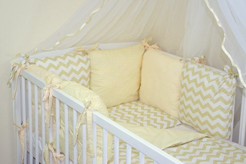 9786042157537: NEW 12 PCS BABY BEDDING SET FOR COT / COTBED with PILLOW BUMPER (27 COLOURS) (to fit cotbed with mattress size 140x70, 13)