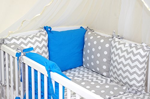 9786042158664: NEW 10 PCS BABY BEDDING SET FOR COT / COTBED with PILLOW BUMPER (27 COLOURS) (25)