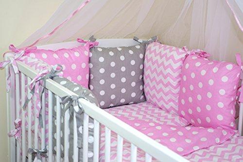 9786042158879: Parure de lit bébé ENSEMBLE DE 10 PIÈCES avec Tour de lit 6 coussins (couleurs 28-54) (46)