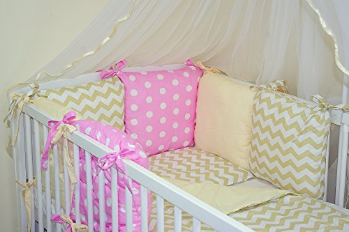9786042159210: NEW 8 PCS BABY BEDDING SET FOR COT / COTBED with PILLOW BUMPER (27 COLOURS) (15)