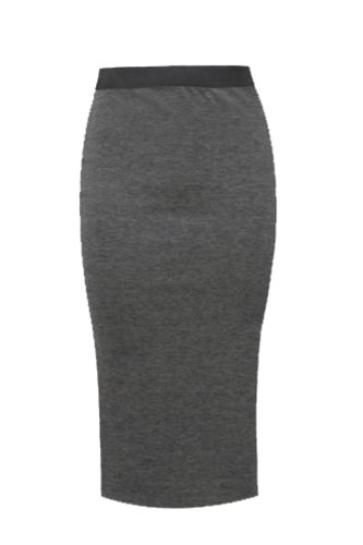 9786042293051: LADIES PLAIN OFFICE WOMENS STRETCH BODYCON MIDI PENCIL SKIRT TUBE WIGGLE SKIRT (S/M 8/10, Charcoal)