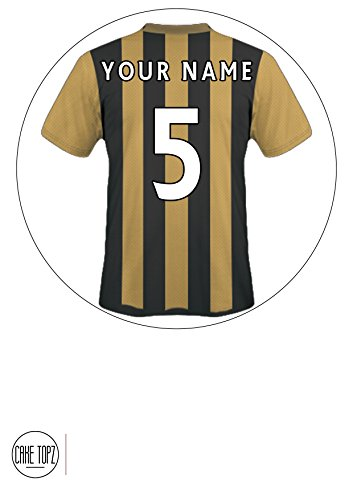 9786042349468: Customisable Hull City Themed Football Shirt Edible Frosted Icing Cake Topper - 7.5