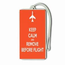 9786042356916: Novelty Airline, Aeroplane Luggage Tags - Keep Calm And Remove Before Flight
