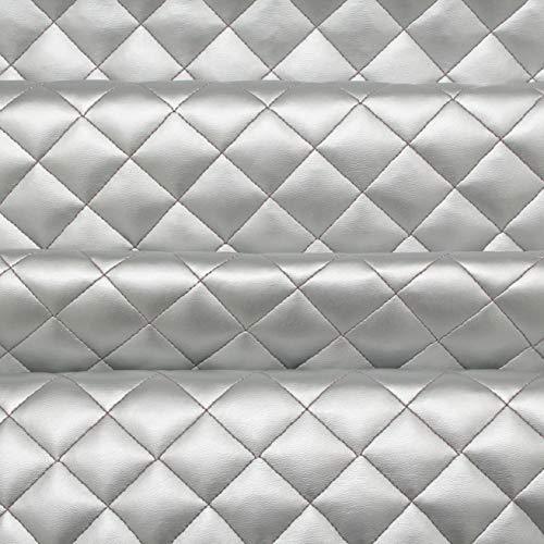 9786042473897: Tissu argenté matelassé à motif croisé pour coussins, tapisserie, intérieur de voiture