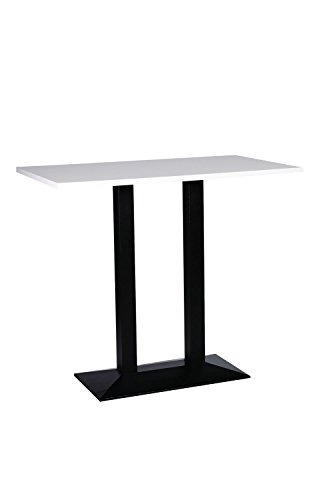9786042628389: Quinn Cast Iron Large Twin Poseur Base with 60x100cm Oblong White Top
