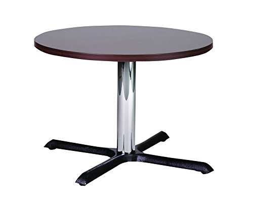 9786042634809: Roza 80cm Round Wenge Quality Cast Iron Coffee Table with Chrome Column