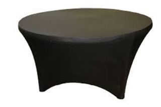 9786042670753: Elegant Events 10 pcs Black 4FT (120cm) Round Spandex Lycra Stretch Table Cover WEDDING PARTY BUFFET