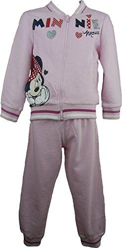 9786042682411: Disney Minnie Mouse Bambine e ragazze Tuta da ginnastica / Jogging Completo pallido Rosa- 4 Anni / 104 cm