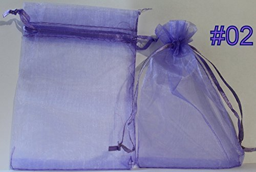 9786042733816: pack of 50 Organza Gift Bags (Medium (12cm x 9cm), Lilac)