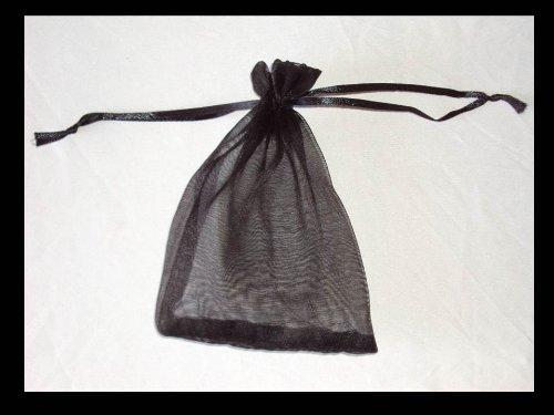 9786042758734: Lot de 100�sachets en organza 12�cm x 9�cm Couleurs Assortis noir