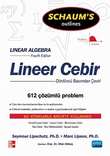 Lineer Cebir: Marc Lars Lipson,Seymour
