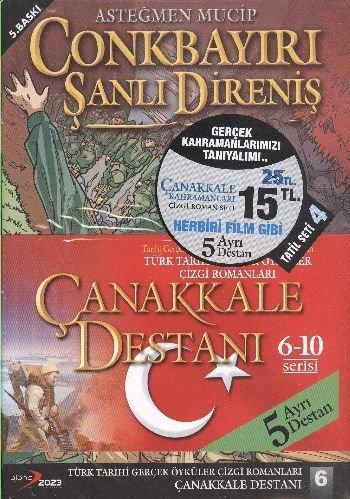 9786055493516: Canakkale Destani Cizgi Roman Seti - 6 - 10 Serisi