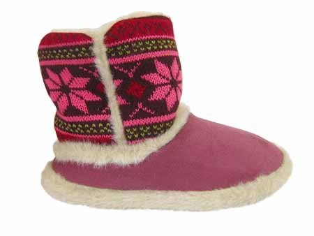 9786061545957: Coolers Shoreside Chaussons montants chauds pour femme - Rose - Fuchsia, 35/36 (3-4 UK)