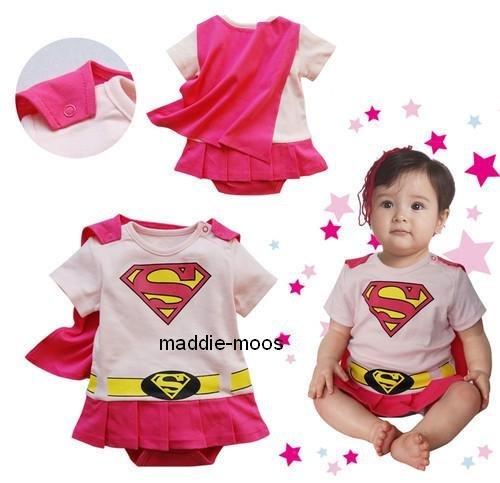 9786066101752: D�guisement SUPERMAN BATMAN SUPERGIRL pour B�b� avec la Cape (12-18 mois (Tag 90), Supergirl)