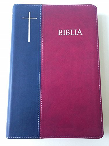 9786068279268: Romanian Cornilescu Bible - Revised Edition / Biblia sau Sfanta Scriptura - Editie Revizuita / Burgundy - Blue Duo-Tone Cover with Silver Edges and Thumb Index / Words of Christ in Red 076