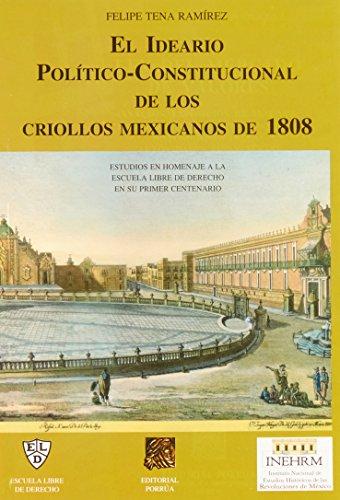 IDEARIO POLITICO CONSTITUCIONAL DE LOS CRIOLLOS MEX: TENA RAMIREZ, FELIPE