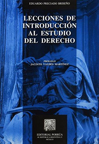 9786070907616: LECCIONES DE INTRODUCCION AL ESTUDIO DEL DERECHO