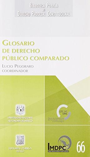 9786070911705: GLOSARIO DE DERECHO PUBLICO COMPARADO